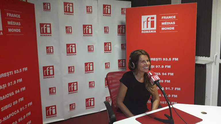 Teodora invited to talk about her new project at RFI Romania