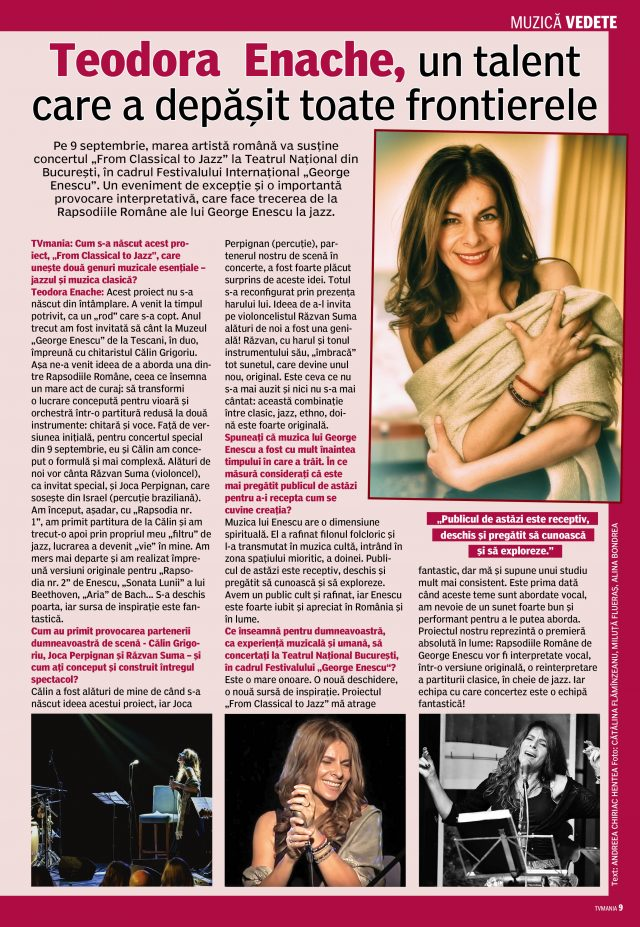 Such a pleasure to see Teodora's story found its place in the pages of TVmania Magazine.